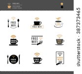 set of logos and badges free... | Shutterstock .eps vector #387373465