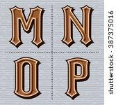 alphabet western letters... | Shutterstock .eps vector #387375016