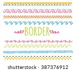 set of colorful hand drawn... | Shutterstock . vector #387376912