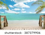 beach landscape view  | Shutterstock . vector #387379906