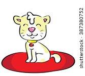 cute cat smile | Shutterstock .eps vector #387380752