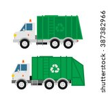 garbage trucks isolated on... | Shutterstock .eps vector #387382966