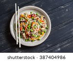 Rice Noodles With Vegetable...