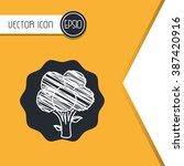 vegetarian food design  | Shutterstock .eps vector #387420916