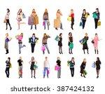 money is happiness presents... | Shutterstock . vector #387424132