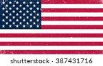 grunge usa flag. american flag... | Shutterstock .eps vector #387431716