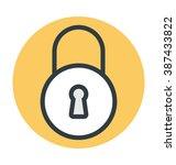 lock colored vector icon | Shutterstock .eps vector #387433822