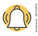 bell ringing colored vector icon