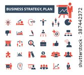 business strategy plan icons | Shutterstock .eps vector #387442372