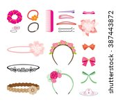 hair accessories object set ... | Shutterstock .eps vector #387443872