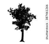 tree silhouette vector | Shutterstock .eps vector #387461266