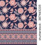 floral eastern pattern design | Shutterstock .eps vector #387465235