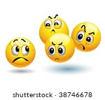 smiley balls attacking another... | Shutterstock .eps vector #38746678