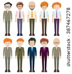 businessmen in formal clothes... | Shutterstock .eps vector #387467278