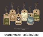 set of eco friendly fabric...   Shutterstock .eps vector #387489382