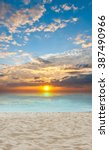 sand and beach with sunset | Shutterstock . vector #387490966