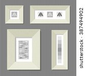 paintings in the broad frames... | Shutterstock .eps vector #387494902
