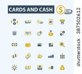 cards and cash icons  | Shutterstock .eps vector #387502612