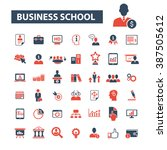 business school icons  | Shutterstock .eps vector #387505612