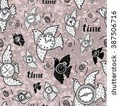 seamless pattern.vector artwork ...   Shutterstock .eps vector #387506716