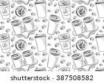 coffee shop illustration design ... | Shutterstock .eps vector #387508582