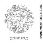 vector illustration of forest... | Shutterstock .eps vector #387511306