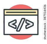 web development colored vector... | Shutterstock .eps vector #387516436