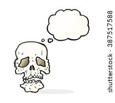 cartoon skull with thought... | Shutterstock .eps vector #387517588