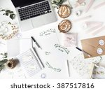 workspace. workspace with... | Shutterstock . vector #387517816