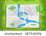 city map lying | Shutterstock .eps vector #387518296