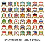 illustration of the national... | Shutterstock . vector #387519502