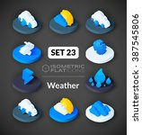 isometric flat icons  3d... | Shutterstock .eps vector #387545806