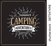set of vintage summer camp... | Shutterstock . vector #387547498