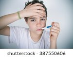 child with a fever | Shutterstock . vector #387550606