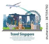 illustration. travel around... | Shutterstock .eps vector #387554782