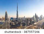 aerial view of downtown dubai... | Shutterstock . vector #387557146
