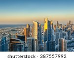 beautiful skyline with modern... | Shutterstock . vector #387557992