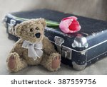 Old Teddy Bear With Vintage...