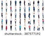set of trendy people. collage... | Shutterstock . vector #387577192