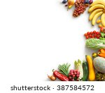 healthy eating background. food ... | Shutterstock . vector #387584572
