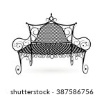 bench front view isolated on... | Shutterstock .eps vector #387586756