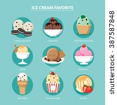 vector favorite of ice cream... | Shutterstock .eps vector #387587848