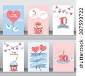 happy birthday  holiday ... | Shutterstock .eps vector #387593722