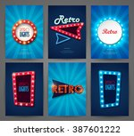 set of brochures in retro style.... | Shutterstock .eps vector #387601222