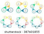 circular infographic element... | Shutterstock .eps vector #387601855