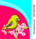 funny bird | Shutterstock .eps vector #38760268