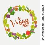 vegan card | Shutterstock .eps vector #387605035