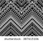 seamless stylized chevron... | Shutterstock .eps vector #387615106