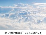 cloudscape blue sky and white... | Shutterstock . vector #387615475