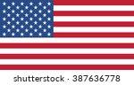 united states flag | Shutterstock .eps vector #387636778